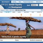 WDR - WORLD DEVELOPMENT REPORT ON GENDER EQUALITY AND DEVELOPMENT